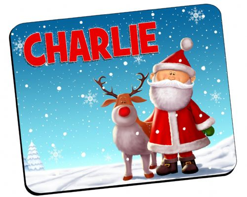 Personalised Christmas Table Placemat N18 - ANY NAME
